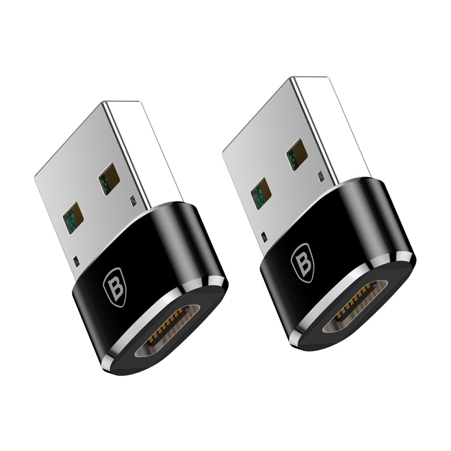 Baseus 5a Usb A Male To Usb Type C Female Adapter 2 Pack